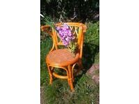 WICKER / CANE CONSERVATORY / PATIO CHAIR - with Bergere seat / Vintage - Good condition