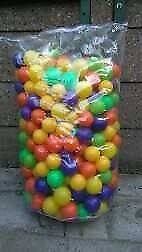 CHILDREN'S PLASTIC COLOURED BALLS