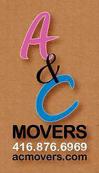 A&C MOVERS NO HIDDEN FEES WELL REVIEWED 416 876 6969