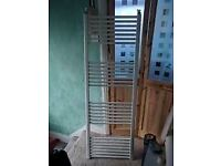 1620mm high x 560 w used white bathroom towel radiator with wall fixings.