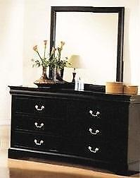 New in Boxes!!!  Black Dresser with Mirror Regular $549+HST Now $329 taxes in until Labour Day