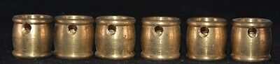 Brass Slip Coupling 1/8 IP x 1/4 IP Hole For Set Screw Lot of 6 Unfinished
