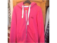 Pink super dry hoodie size large