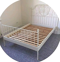 Double bed frame. Good condition. Delivery and mattress available ex