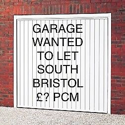Wanted Garage Prefer South Bristol area