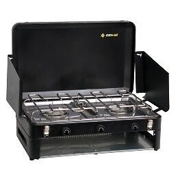 OZTRAIL 2 BURNER DOUBLE GRILL Gas Camping Camp Portable Stove Cooker