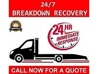 24/7 East London Car Breakdown Recovery Tow Truck Service Auction Vehicle Transporter Nationwide