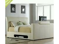 King size tv bed with jvc tv Apple tv and now tv grab a bargain