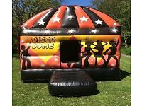 Disco Dome Party Bouncy Castle Candy Floss Popcorn Balloons Mascots Much More