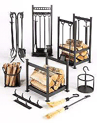 ISO wood fireplace accessories.