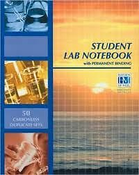 BRAND NEW Student Lab Notebook (50 sheets)