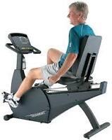 Recumbent stationary exercise bike.