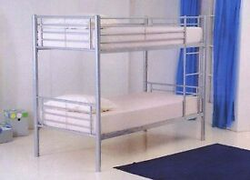 🌷💚🌷SAME DAY FAST DELIVERY🌷💚🌷BRAND NEW SINGLE METAL BUNK BED WITH MATTRESS OPTION AVAILABLE