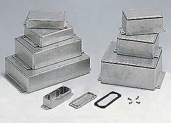 "Ces Flanged Aluminum Cases 4.49"" X 3.45"" X 2.16"""