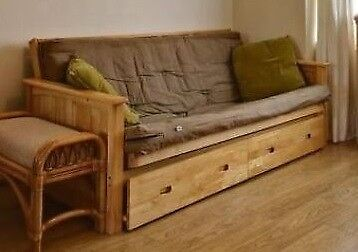 Superb REDUCED Almost New Ikea Solid Wood Kyoto Style Futon Sofa Bed With  Removable Drawers