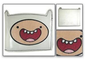 NEW-OFFICIALLY-LICENSED-ADVENTURE-TIME-FINN-FACE-DIE-CUT-WHITE-BI-FOLD-WALLET