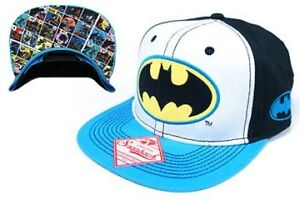 1-AUCTION-DC-Comics-Batman-TRICOLOR-Hat-Baseball-Cap-Snap-Back-Licensed-Adult