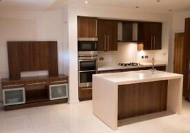 REDUCED. A beautiful statement corian kitchen island and units