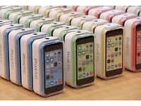 APPLE IPHONE 5c UNLOCK OPEN ON ALL COME WITH BOXED OPEN ON ALL NETWORK AND WARRANTY
