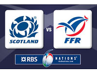 Two Scotland v France 6 Nations tickets 12th February 2017 IN PARIS
