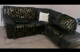 **CORNER SOFA** LEATHER L SHAPE SETTEE