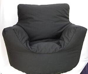 Large Black Bean Bag Arm Chair