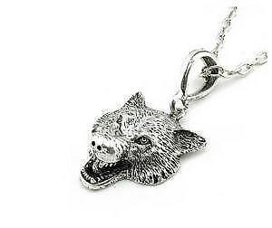 Wolf necklace ebay wolf head necklaces aloadofball Choice Image