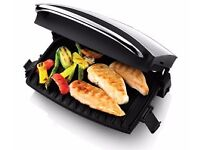 George Foreman 4 Portion Grill & Melt 14181 - Grill - electrical - 464 sq. cm - silver