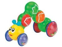 Kidoozie Press N Go Inchworm baby toddler toy