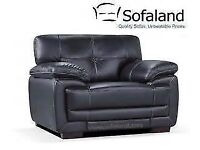 Sofaland Hayley leather chair- black leather