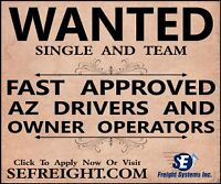 FAST Drivers Needed for Dedicated Long Haul Runs !!!
