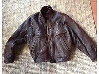 Man's vintage leather jacket