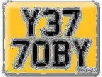 Y377 OBY YET TOBY Y37 7OBY OBI Preferential Personal number plate Cherished registration Retention