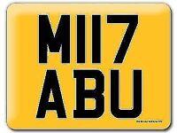 M117 ABU MIYABU MIABU MYABU Cherished Registration Private 17 Reg Number plate BMW M3 MIII