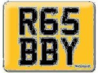 Yamaha R6 Gabby Gaby Gabriel Robbie Bobby Robby Robert R65 BBY Baby Cherished Private number plate