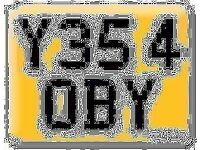 Y354 OBY YES ROBY OBI Robert Preferential Personal number plate Cherished registration on Retention