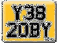 Y382 OBY ROBY 2OBY TOBY Robert Preferential Personal number plate Cherished registration Retention