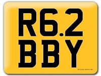 R62 BBY Yamaha R6 Ibby Robbie Bobby Robby Ibrahim 62 Private Number Plate Cherished Registration
