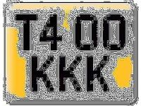 T400 KKK private number plate VW DUB T4 OK Volkswagen Transporter all fees included registration