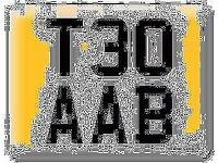 T30 AAB private THEO number plate VW DUB T5 T6 Volkswagen Transporter all fees included registration