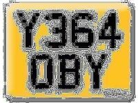 Y364 OBY Scooby OBI Preferential Personal number plate Cherished registration on Retention