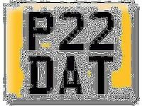 66% OFF Private Number Plate P 22 P22 DAT P22DAT Cherished Registration worth £1095