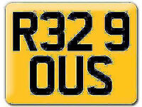 VW RS32 R32 Cherished registration Private number plate R329 OUS Volkswagen Golf - One of a pair