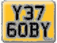 Y376 OBY YET GOBY Scooby OBI Preferential Personal number plate Cherished registration on Retention