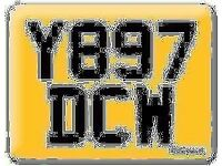 Y897 DCW Preferential Personal number plate Cherished registration small digits number on Retention