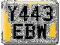 Y443 EBW Private Personal number plate Cherished registration