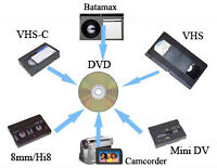 Transfer Video , VHS, Hi8, miniDV, 8mm....