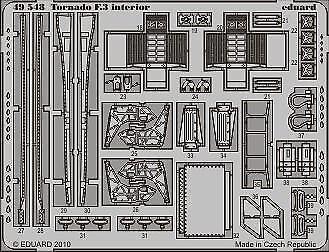 Eduard Accessories 49548 - 1:48 Tornado F.3 Interior S.A. For Hobby Boss - Ätzsa