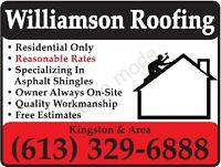 Williamson Roofing now booking new clients