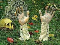 HALLOWEEN DECOR/PROP - GRUESOME GROUNDBREAKERS - NEW!